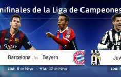 Barca-Bayer y Madrid-Juventus